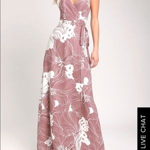 Always Mine Mauve and White Floral Print Dress